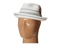 Stacy Adams Polybraid Pinch Front Fedora With Contrast Tie Band White Fedora Hats