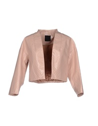 Pinko Black Blazers Light Pink