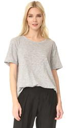 Atm Anthony Thomas Melillo Boyfriend Crew Tee Heather Grey