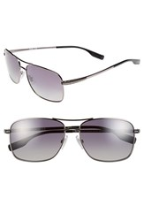 Men's Boss 59Mm Polarized Navigator Sunglasses Dark Ruthenium