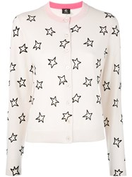 Paul Smith Ps By Star Patterned Cardigan Women Wool M Nude Neutrals