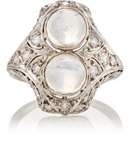 Stephanie Levy Women's Art Deco Ring Colorless