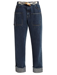 J.W.Anderson Toggle Detail Straight Leg Jeans Denim