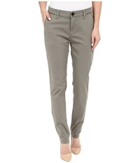 Mavi Jeans Selina Chino In Military Twill Military Twill Women's Casual Pants Gray