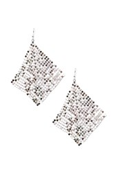Forever 21 Chainmail Mesh Drop Earrings Silver