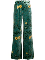 Ailanto Floral Print Trousers Green