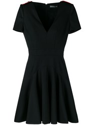 Alexander Mcqueen Flared Mini Dress Black
