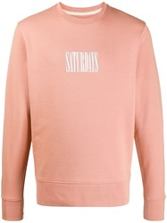Saturdays Surf Nyc Logo Print Sweatshirt Pink