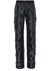 Y Project Straight Leg Jeans With Organza Black