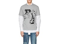 J.W.Anderson Comic Print Cotton T Shirt Light Gray