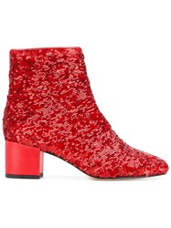 Marc Ellis Sequinned Ankle Boots Red