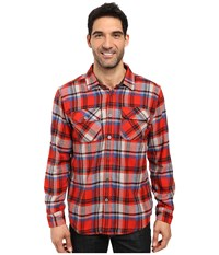 Prana Lybeck L S Flannel Fireball Men's Long Sleeve Button Up Orange