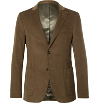 Officine Generale Brown Cotton Corduroy Suit Jacket Brown