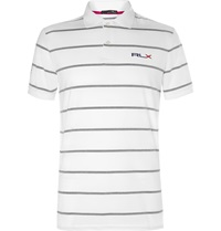 Rlx Ralph Lauren Striped Stretch Jersey Golf Shirt White