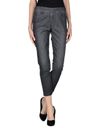 Blue Les Copains Denim Denim Trousers Women Black