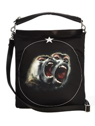 Givenchy Screaming Monkey Nylon Tote Black Multi