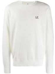 C.P. Company Cp Long Sleeved Sweater White
