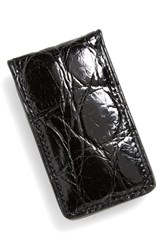 Men's Boconi Crocodile Magnetic Money Clip Black