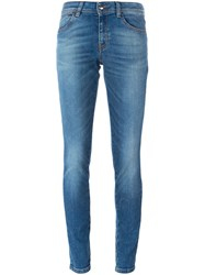 Just Cavalli Stone Washed Skinny Jeans Blue