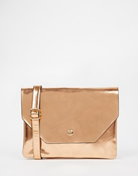 Monki Gold Metallic Cross Body Bag Copper