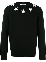 Givenchy Star Applique Sweatshirt Black