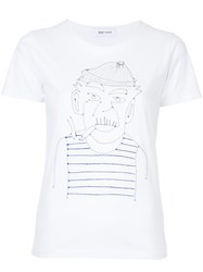 Jimi Roos Embroidered Sailor T Shirt White