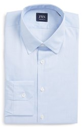 John W. Nordstrom Big And Tall Traditional Fit Solid Dress Shirt Blue Lake