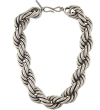Dries Van Noten Intertwined Necklace Silver Brass