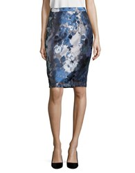 Calvin Klein Floral Brocade Pencil Skirt Iceberg