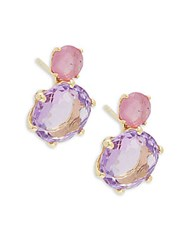 Ippolita Rock Candy 18K Yellow Gold Ruby And Amethyst Stud Earrings