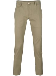 Dolce And Gabbana Cropped Trousers Nude Neutrals