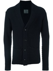 Laneus Button Down Cardigan Blue