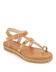 Via Spiga V Lada Platform Toe Ring Sandals British Tan