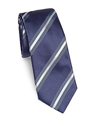 Pal Zileri Striped Italian Silk Tie Navy