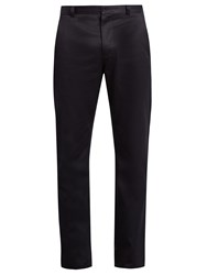 Acne Studios Alfred Slim Fit Cotton Blend Chino Trousers Navy