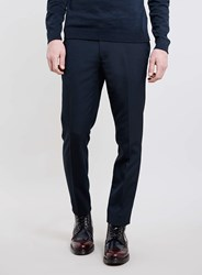 Topman Navy Skinny Smart Trousers Blue