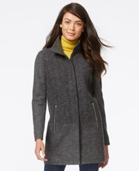 Nautica Colorblocked Herringbone Wool Coat