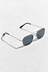Urban Outfitters Square Aviator Sunglasses Black