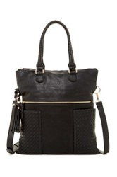 Urban Expressions Ava Woven Convertible Messenger Black