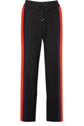 Kenzo Striped Crepe Track Pants Black