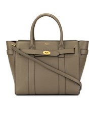 Mulberry Small Zip Bayswater Tote Brown