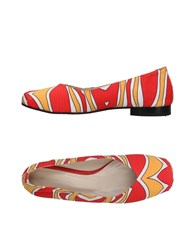Luca Valentini Ballet Flats Red