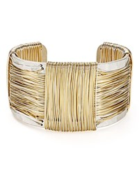 Robert Lee Morris Soho Two Tone Wire Cuff Silver Gold