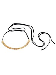 Danielle Nicole Blossom 14K Imitation Goldplated Choker Necklace Black Gold