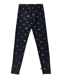 Terez Rainbow Emoji Foil Print Leggings Black