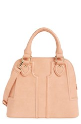 Sole Society Dome Satchel Coral Peach