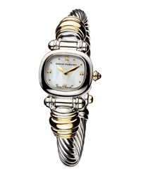 David Yurman Cable Watch Silver And Gold