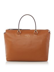 Coccinelle Keyla Soft Leather Satchel With Strap Tan