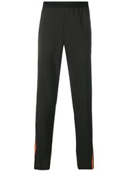 Helmut Lang Side Stripe Trousers Xw6 Charcoal Signal