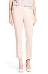 Women's Halogen Slim Stretch Cotton Blend Ankle Pants Pink Peach